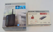 Belkin N150 150 Mbps 4-Port 10/100 Wireless N Router and USB Network Adapter
