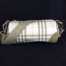 Authentic Burberry Barrel Bag London Nova Plaid Check Bag Pink S 04 1