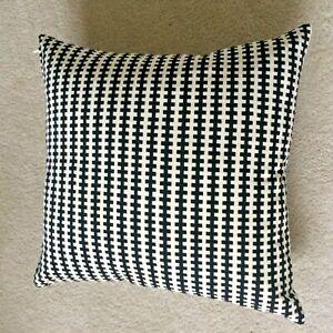 "IKEA""Stockholm""Black&White""Geometric Pillow COVER 22""Cotton Velvet Washable NEW"