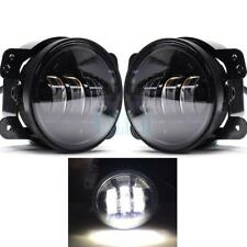 "Pair 60W 4"" inch LED Fog Lights for Jeep Wrangler LJ JK TJ CJ Bumper Tractor"
