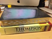KJV Thompson Chain-Reference Bible Black Bonded Thumb Indexed Large Print NEW