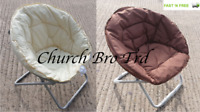 NEW CHOCOLATE & CREAM FOLDING BUCKET CAMPING CHAIRS-GARDEN-BEACH-CARAVAN-CHAIRS
