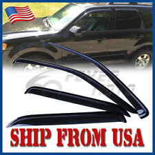 US 4Pcs Car Smoke Window Visors Rain Sun Vent Guard For Ford Escape 2001-2012 FM