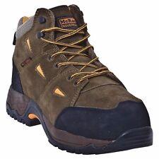 MCRAE INDUSTRIAL, SAFETY FOOTWEAR WORK BOOTS, BROWN, SIZE 8W (MK-028)
