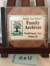 Family Tree Maker's Family Archives - World Family Tree Vol 29! FREE SHIPPING!