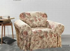 Sure Fit Chloe floral roses arm Chair Slipcover homestyle washable NEW