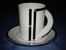 ROSENTHAL CUPOLA NERA 6 Kaffeetassen mit Untertassen Studio-Linie NEU