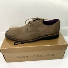 Blackstone Mens Oxford Dress Shoes Brown Suede Leather Lace Up 10-10.5 EU 44 New
