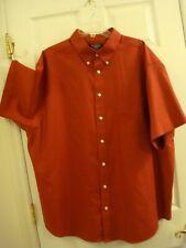 Mens Roundtree & Yorke Classics Burgundy Shrt Sleeve Button Collr Dress Shirt XL