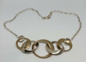 Robert Lee Morris RLM Studio Sterling Silver 925 Brass Link Necklace Modernist