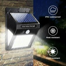 More details for solar powered garden path security led light pir motion sensor outdoor wall lamp