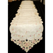 Long Embroidery Cutwork Table Runner Home Decoration 28x216cm