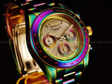 NEW Invicta 40mm Speedway Quartz Chronograph Platinum MOP Dial IRIDESCENT Watch
