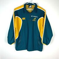 Australia Wallabies Rugby Canterbury Jacket Pullover Size Men's Large