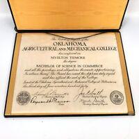 1900s OK Agricultural and Mechanical College Diploma Degree Nivelton Tidmore VTG