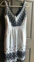 Kate Spade New York Black White Dress Size 6 Fit Flare V-Neck
