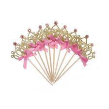 St/Set Pretty Princess Crown Cake Hochzeit Geburtstag Baby Shower Dekor 48
