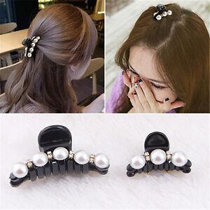 Rhinestone Hair Clip Shiny Crab Hair Ornaments Headwear Colorful Beads Hairpins