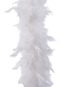 White Feather Boa Christmas Garland Cream Xmas Tree Decoration 184cm