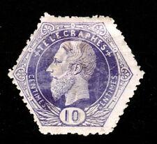 Timbre télégraphe, TG 3, neuf avec charnière *, papier épais, Val COB 55 EUR