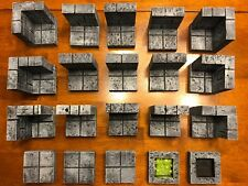 Dungeon Terrain Modular tile Set 28mm Dungeons & Dragons Pathfinder d&d Heroclix