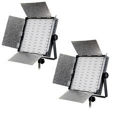 2x LED-Flächenleuchte CN-600 HS - LED Panel Studioleuchte Fotoleuchte, 5900 Lux