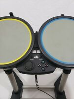 PS2 PS3 Rock Band Drum Set Wired w/ Pedal 822148 TESTED WORKS PlayStation