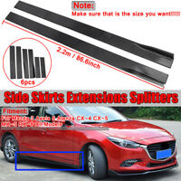 2.2M Side Skirts Extension Rocker Panel For Mazda 3 Axela 6 Atenza CX-3 CX5 CX-4