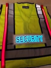 ANSI 2 Illuminated LED Safety Vest Security Guard Green High Vis Visibility XL