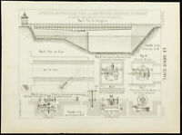 1891 - Karte Antik Eines Brücke Wende IN Gent (Belgien) - Kamera Hydraulik
