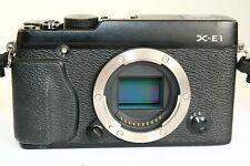 BLACK FUJI FUJIFILM X-E1 XE1 MIRRORLESS BODY ONLY FOR FUJINON LENSES