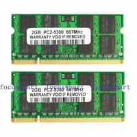 New 4GB 2X2GB PC2-5300 DDR2 667MHZ 200pin Sodimm Laptop Memory Ram notebook