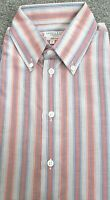 Turnbull & Asser Shirt New With Tags Button Cuff Striped Button Down Collar S