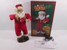 Jingle Bell Rock Santa Animated Holiday Christmas Decoration 1998 Complete