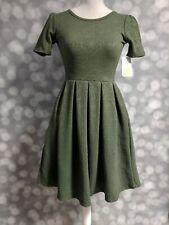 LuLaRoe Olive Green Amelia Dress, Size XXS, BNWT!