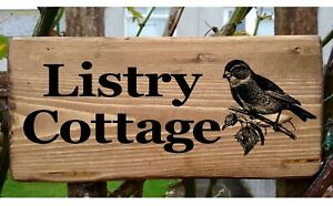 Bird House Number Name Gate Sign personalised Plate Plaque Custom Name Address
