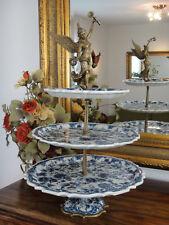 Luxus Etagere Porzellan Bronze Etagerie Jugendstil Antik Tortenständer Platte