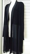 CHICO'S Travelers Classic Pleated Trim Jacket Black-NWT Size 3 (16-18)