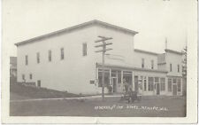 1909 Mount Hope, Wisconsin - REAL PHOTO Main Street, General Store, Old Car