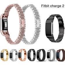 Für Fitbit Charge 2 Armband Edelstahl Ersatz Band Strap Milanese Uhrenarmbänder