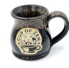 Deneen Pottery Hand Thrown Zen Cat Coffee Mug Limited Edition Collectors Cup