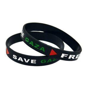 FREE PALESTINE / SAVE GAZA Silicone Wristband - Genuine UK Seller