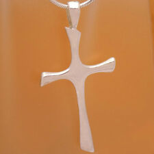 Stylish Design Unisex Cross Pendant Vintage Solid 925 Sterling Silver Fancy