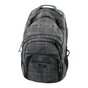 "Dakine Grey Plaid 14"" Laptop Sleeve Backpack Insulated Cooler Pocket"