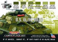 LIFECOLOR U.S.OLIVE DRAB CAMOUFLAGE SET cod.CS11