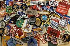 Vintage 1980s Patches lot of 25 (boy&girl scouts,oil,car shops,ems,brands,etc)