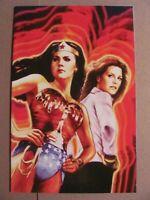Wonder Woman 77 Bionic Woman #1 DC Dynamite 2017 Series 1:10 Virgin Variant 9.6