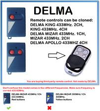 DELMA MIZAR 433MHz. 1CH, MIZAR 433MHz. 2CH  Remote Control Duplicator 4-Channel