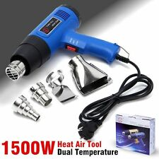 1500W Dual Temperature 300/500℃ Pistola de Aire caliente Heater + 4 Nozzles Tool