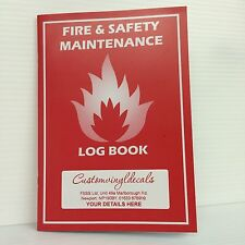 25 x FIRE LOG BOOK A5 PERSONALISED COMPLIANT LANDLORD SECURITY SAFETY